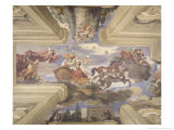 "The ""Sala Di Aurora"" Detail of the Ceiling Depicting Dawn's Chariot, 1621 Reproduction procédé giclée par Guercino (Giovanni Francesco Barbieri)"