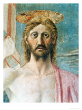 The Resurrection, Detail of the Face of Christ, circa 1463 Giclee Print by  Piero della Francesca