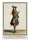 Cleante Dressed as a Cavalier, Fashion Plate, circa 1695 Premium Giclee Print by Nicolas Bonnart