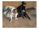 Waiting, circa 1882 Giclee Print by Edgar Degas