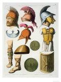 "Roman Military Equipment, from ""Le Costume Ancien Et Moderne"" Giclee Print by D.k. Bonatti"