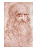 Portrait of a Bearded Man, Possibly a Self Portrait, circa 1513 Giclee Print by  Leonardo da Vinci