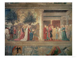 The Queen of Sheba Worshipping the Wood of the True Cross Giclee Print by  Piero della Francesca