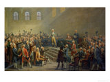 Assembly of the Three Orders of the Dauphin, Received at Vizille Castle Giclee Print by Alexandre Debelle