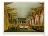 "The Gothic Dining Room at Carlton House from Pyne's ""Royal Residences"" Giclee Print by Charles Wild"