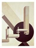 Proun 10, 1919 Giclee-trykk av El Lissitzky