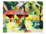 The Garden, 1914 Giclee Print by Auguste Macke