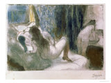 The Brothel, circa 1879 Giclee Print by Edgar Degas