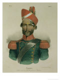 A Sepoy: an Indian Soldier in the French Battalion at Pondicherry Giclee Print by Jacques Francois Gauderique Llanta