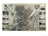 Map of the City of Florence Premium Giclee Print by Wenceslaus Hollar