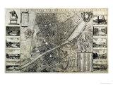Mapa de la Ciudad de Florencia Lámina giclée por Wenceslaus Hollar