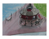Little Lighthouse Giclee Print by Janice C Harvey