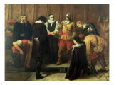 The Burial of Charles I at St. George&#39;s Chapel, 1857 Giclee Print by Charles Lucy