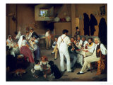 Danish Artists at the Osteria La Gonsola, Rome, 1837 Giclee Print by Ditlev Conrad Blunck