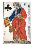 Playing Card Depicting Jean-Jacques Rousseau 1793 Giclee Print by  Chassoneris