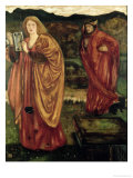 "Merlin and Nimue from ""Morte D'Arthur,"" 1861 Giclee Print by Edward Burne-Jones"