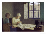 The Old Nurse, 1926 Giclee Print by Frederick Cayley Robinson