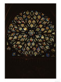 Rose Window Above the West Door, with Scenes Depicting the Story of the Apocalypse in 86 Panels Giclee Print