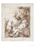 St. Joseph with the Sleeping Christ Child Giclee Print by Bartolome Esteban Murillo