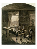 Beethoven's Room at the Time of His Death, 1827 Giclee Print by Johann Nepomuk Hoechle