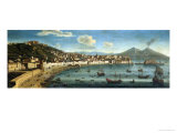 View of the Bay of Naples from the Bay of Chiaia Giclee Print by Tommaso Ruiz