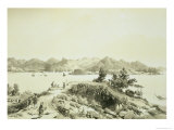 "The Bay and Island of Hong Kong Plate 4 from ""Sketches of China"" Premium Giclee Print by Auguste Borget"