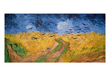 Wheatfield with Crows, 1890 (Oil on Canvas) Reproduction proc&#233;d&#233; gicl&#233;e par Vincent van Gogh