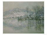 The Seine at Port Villez in Winter, 1885 Giclee Print by Claude Monet