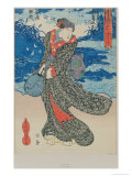 Japanese Woman by the Sea Giclee Print by Utagawa Kunisada