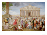 St. Paul Preaching Before the Temple of Diana at Ephesus, 1885 Giclee Print by Adolf Pirsch
