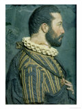 Portrait Relief of Francis I, King of France Giclee Print by Benvenuto Cellini