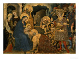 The Adoration of the Magi, Detail of Virgin and Child with Three Kings, 1423 Giclee Print by  Gentile Da Fabriano