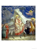 The Flight into Egypt, circa 1305 Giclee Print by  Giotto di Bondone