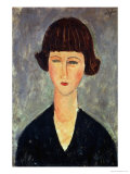 Young Brunette, 1917 Giclee Print by Amedeo Modigliani