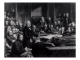 The House of Commons in 1860: Lord Palmerston Addressing the House Giclee Print by John Phillip