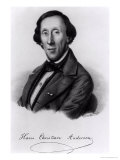 Portrait of Hans Christian Andersen Premium Giclee Print by Johan Frederick Moller