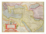 """Map of the Turkish Empire, from the Mercator """"Atlas"""" Published by Jodocus Hondius Amsterdam, 1606 Giclee Print"""