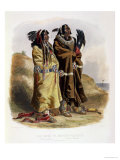 Sih-Chida and Mahchsi-Karehde, Mandan Indians Giclee Print by Karl Bodmer
