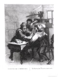The Invention of Printing, 1827 Giclee Print by Gabriel Christophe Guerin