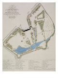 A Plan of the Gardens of Richard Grenville, Duke of Buckingham, at Stowe Premium Giclee Print by William James Smith