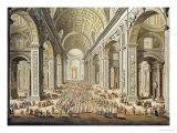 A Procession in St. Peter's, Rome Giclee Print by Giuseppe Vasi