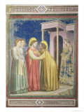 The Visitation, circa 1305 Giclee Print by  Giotto di Bondone