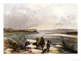 Fort Clark on the Missouri, February 1834 Giclee Print by Karl Bodmer
