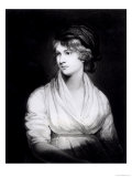 Portrait of Mary Wollstonecraft Godwin Author of a Vindication of the Rights of Woman Giclee Print by John Opie