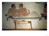 Banquet Attended by the Deceased, Detail from a Painting in the Tomb of the Diver, circa 480 BC Giclee Print