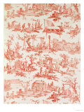 Toile De Jouy, Illustrating the Processes of Manufacturing Cotton, Designed by Christophe Huet Giclee Print