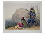 Afghaun Foot Soldiers in Their Winter Dress, with Entrance to the Valley of Urgundeh Giclee Print by James Rattray