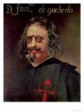 Portrait of Francisco De Quevedo Y Villegas Gicléedruk van Diego Velázquez