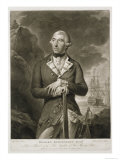 Portrait of Richard Kempenfelt Rear-Admiral of the Blue Giclee Print by Tilly Kettle
