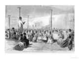 Zion School for Colored Children, Charleston, South Carolina Reproduction proc&#233;d&#233; gicl&#233;e par Alfred Rudolf Waud